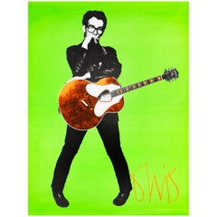 Elvis Costello Stiff Records UK Promo Poster by Barney Bubbles, 1978