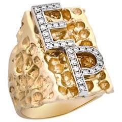 Elvis' Diamond Monogram Ring