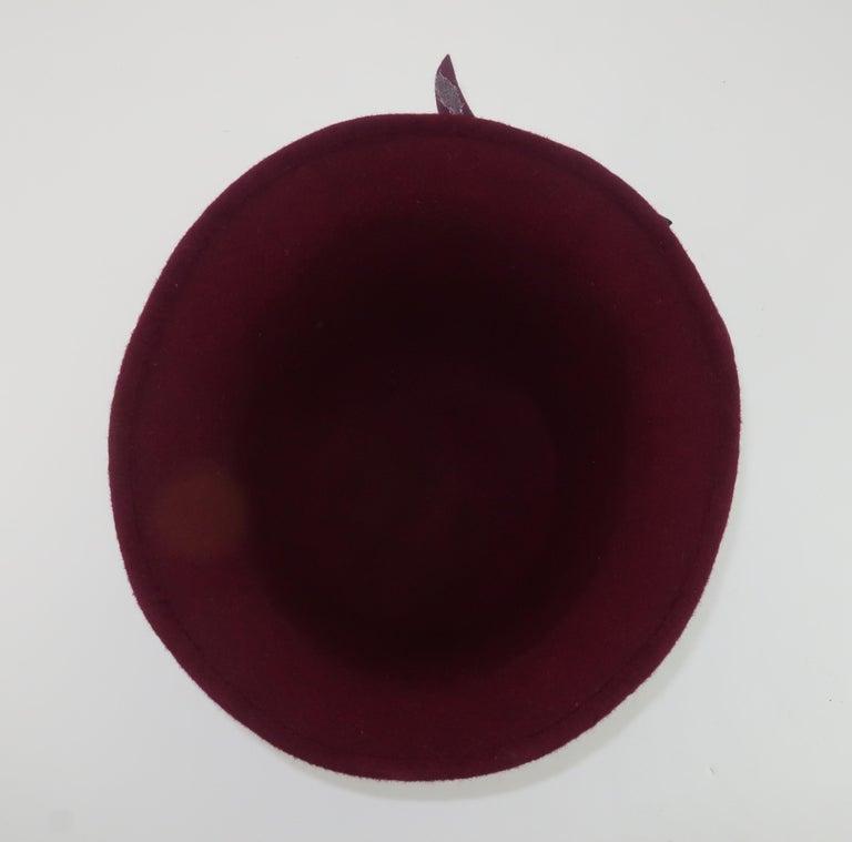 Elvis Pompilio Autumnal Wool Felt Bucket Hat, 1990's For Sale 2
