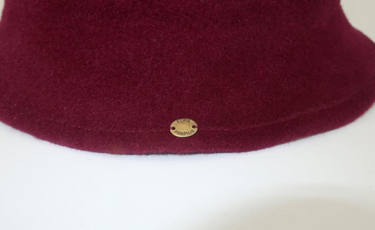 Elvis Pompilio Autumnal Wool Felt Bucket Hat, 1990's For Sale 3