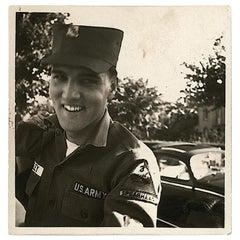 Elvis Presley 1959 Unique Signed Photograph Black And White