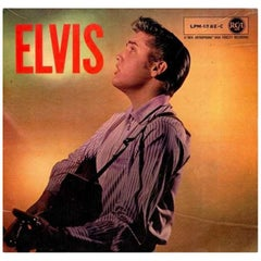 Elvis Presley genuine twice-signed 1950s album