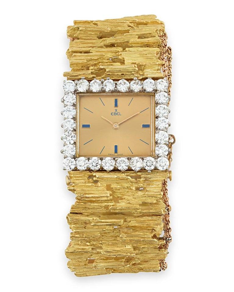 Once worn by the most celebrated cultural icon of the 20th century, this incredible diamond-studded watch was owned by Elvis Presley. The watch was later gifted by Elvis to his close friend and backup singer J.D. Sumner, along with a custom-made