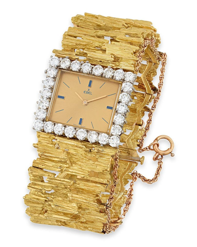 Round Cut Elvis Presley's Gold and Diamond Watch For Sale