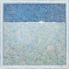 'Sea Poem', Minimalist Abstract Contemporary Landscape Acrylic Painting