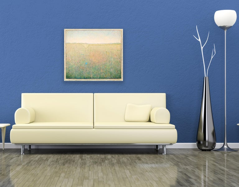 'Some Time Ago', Minimalist Abstract Contemporary Landscape Acrylic Painting For Sale 4