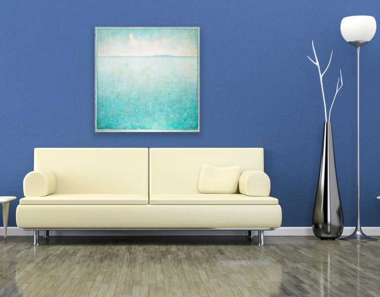 'Time Out', Minimalist Abstract Contemporary Landscape Acrylic Painting For Sale 3