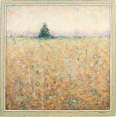 'Tree', Minimalist Abstract Contemporary Landscape Acrylic Painting