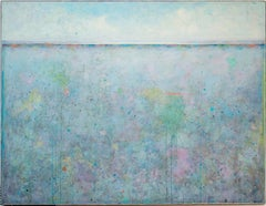 'Up', Large Minimalist Abstract Contemporary Landscape Acrylic Painting