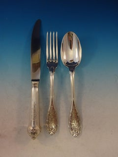 Elysee by Puiforcat French Sterling Silver Flatware Service Set 36 Pcs Dinner