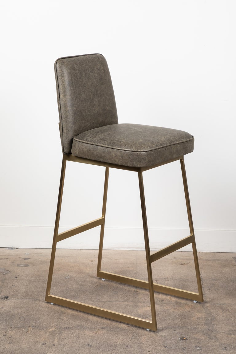 The Elysian barstool is a modern take on the Classic stool.  Available to order in customer's own material with a 6-8 week lead time.   As shown: $1,330 To order: $1,150 + COM.