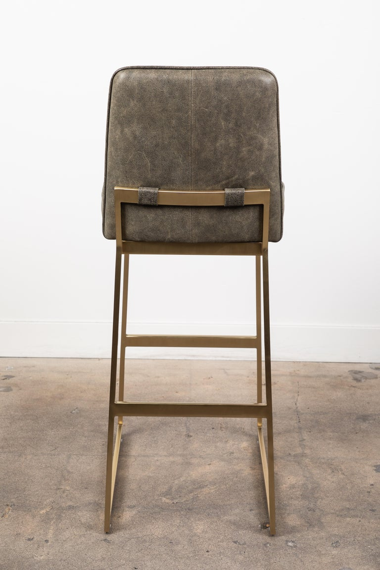 Elysian Barstool by Lawson-Fenning In Excellent Condition For Sale In Los Angeles, CA