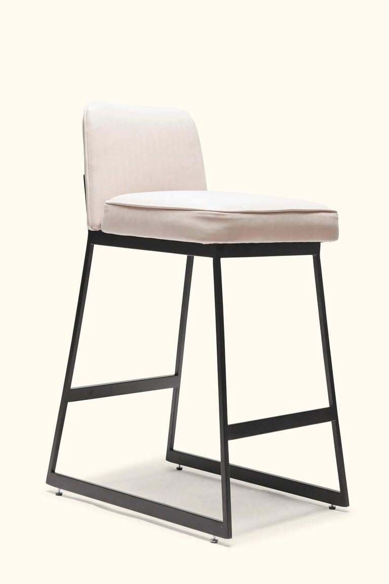 Elysian counter stool - Lowback is a modern take on the classic stool.