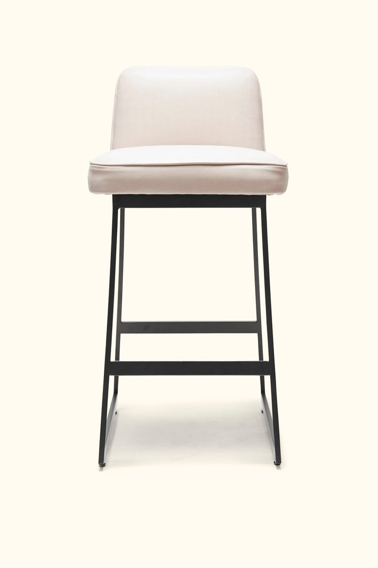 Mid-Century Modern Elysian Counter Stool, Lowback by Lawson-Fenning For Sale