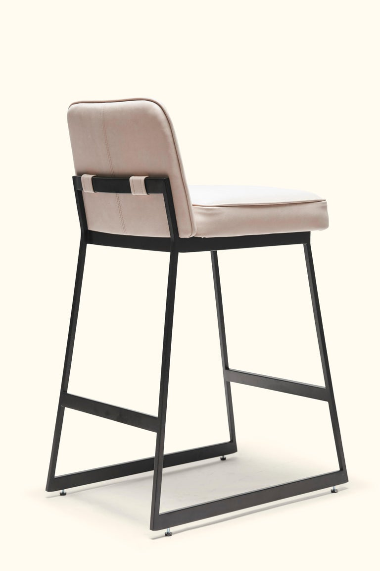 Contemporary Elysian Counter Stool, Lowback by Lawson-Fenning For Sale