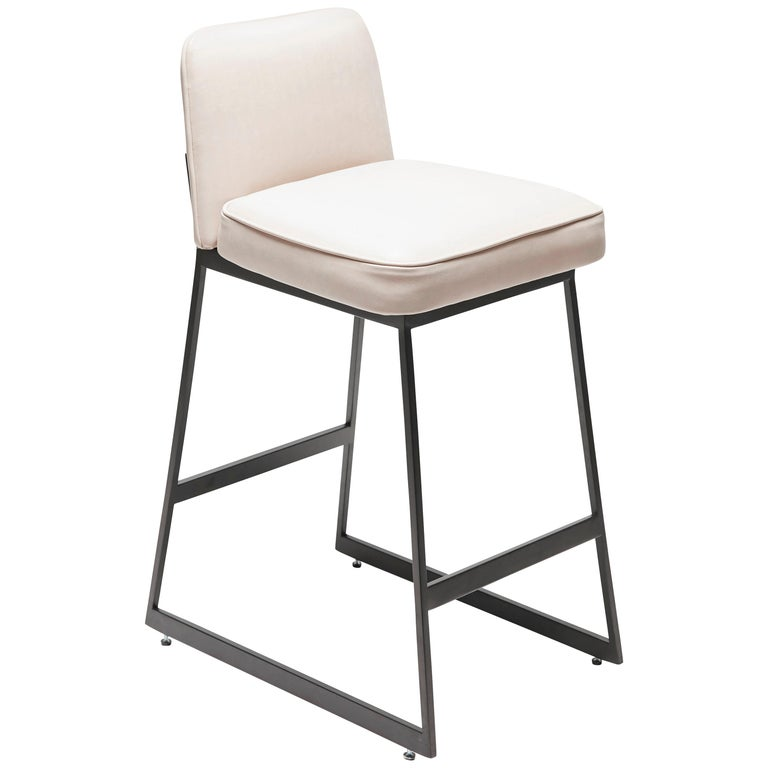 Elysian Counter Stool, Lowback by Lawson-Fenning For Sale