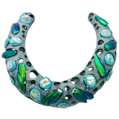 Elytra, Turquoise and  Haliotis on Polymer Chocker base eco by Sylvia Gottwald