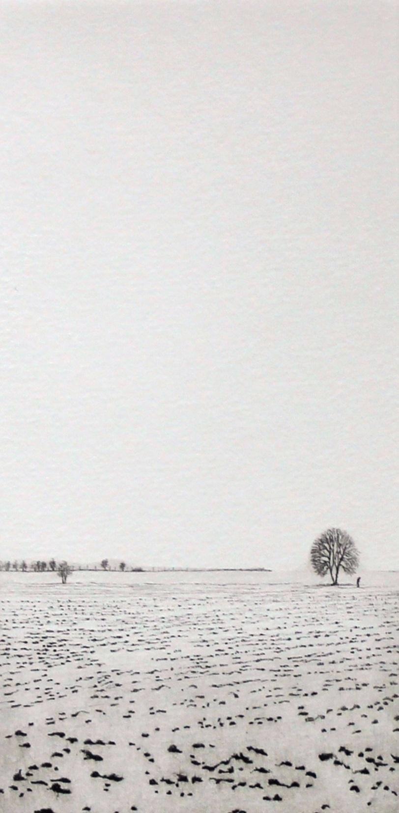 Moods III - XXI century, Landscape figurative print, Black and white