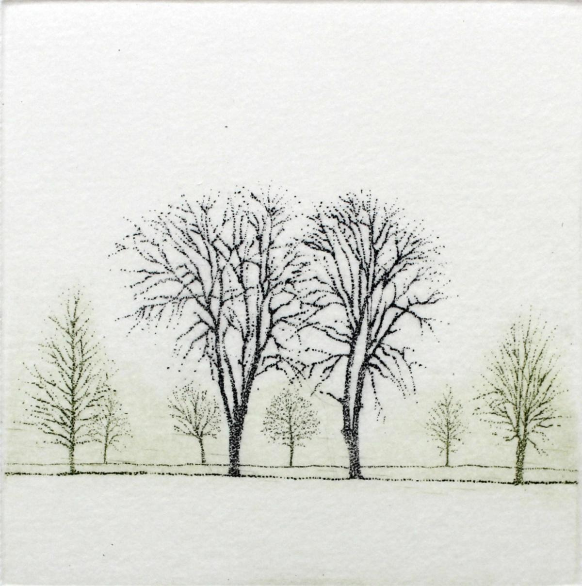 Rhythm VII - XXI century, Landscape figurative print, Colourful, White