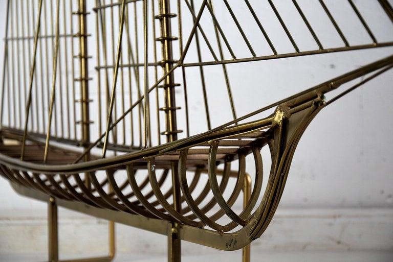 Curtis Jeré Big Sculptural Signed Sailing Boat 1976 For Sale 3