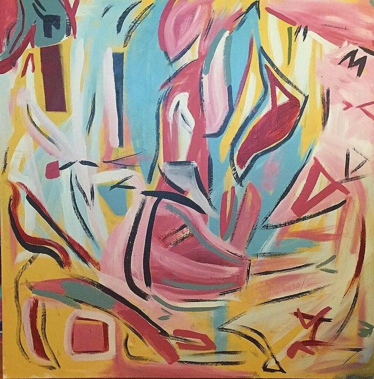 Emanuel Buckvar Abstract Painting - Self Portrait