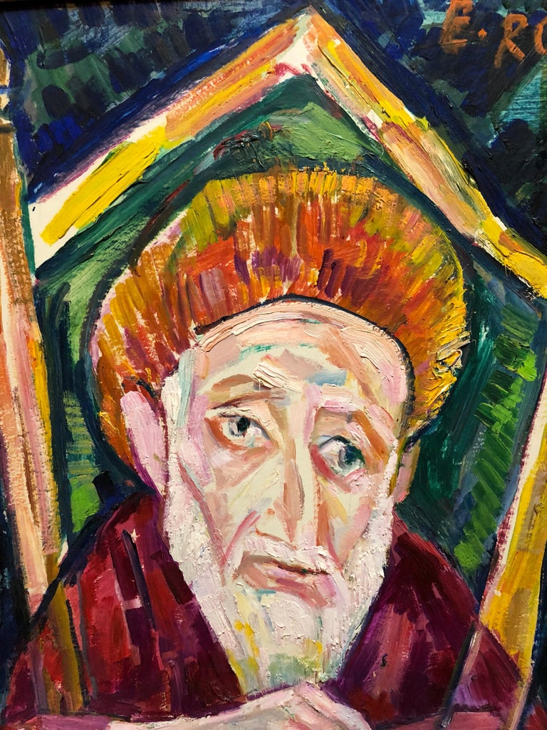 Genre: Portrait Subject: Landscape Medium: Oil Surface: Board Country: United States  EMANUEL ROMANO Rome, Italy, b. 1897, d. 1984 Emanuel Glicenstein Romano was born in Rome, September 23, 1897.   His father Henryk Glicenstein was a sculptor and