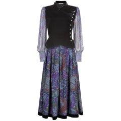 Emanuel Ungaro 1970s Chiffon Velvet Suit