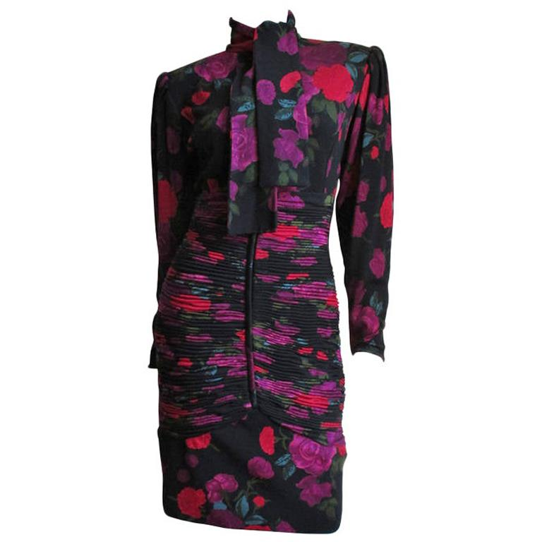 Emanuel Ungaro Bodycon Dress with Ruching For Sale