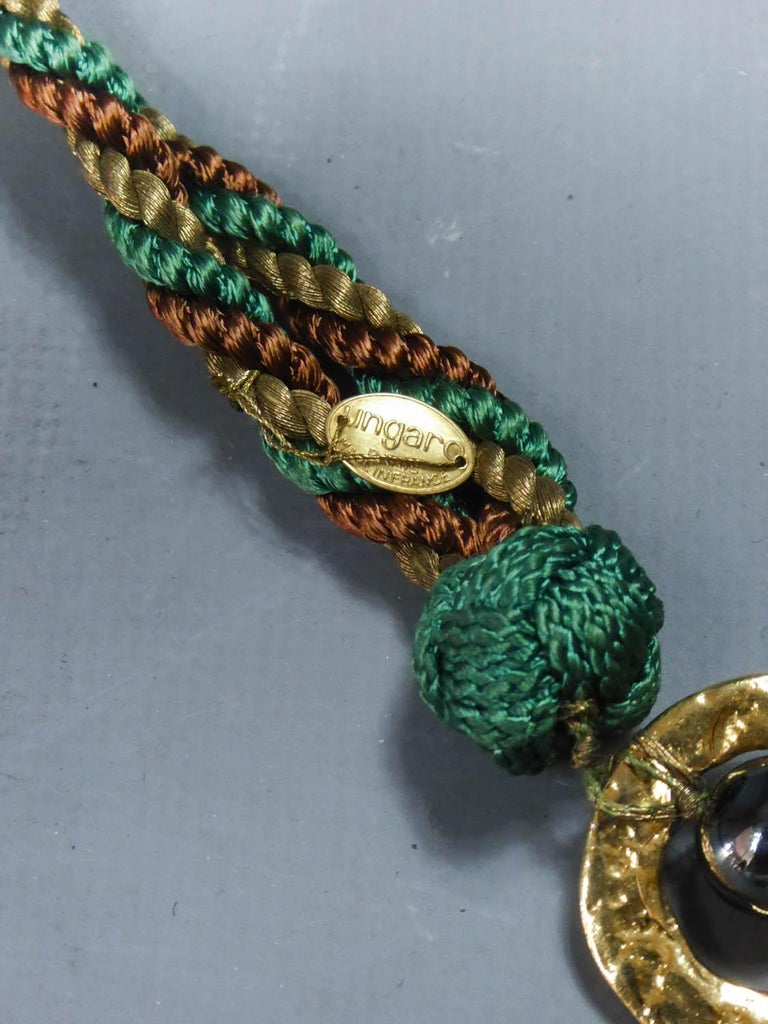 Emanuel Ungaro Braided Belt Circa 1970 In Excellent Condition For Sale In Toulon, FR