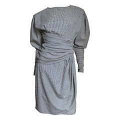 Emanuel Ungaro Check Draped Dress