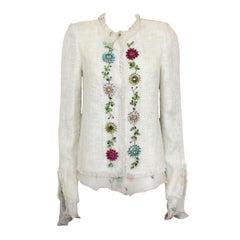 Emanuel Ungaro Floral print Jewel Jacket