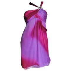 Emanuel Ungaro Ombre Silk Bustier Dress