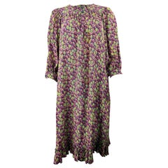 Emanuel Ungaro Parallele Paris Multi Color Raspberry Print Dress