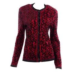 Emanuel Ungaro Parallele Vintage Red & Black Cardigan Sweater
