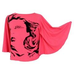 Emanuel Ungaro Pink Black Short Casual Shirt