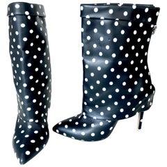Emanuel Ungaro polka dots booties