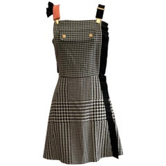 Emanuel Ungaro Resort 2014 Houndstooth Pinafore Overall Dress