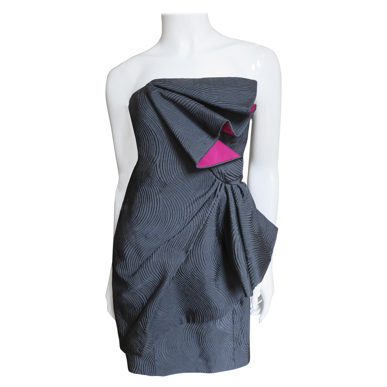 Emanuel Ungaro Strapless Color Block Dress