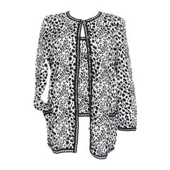 Emanuel Ungaro Twinset Animal Print Black and White Lovely Buttons XL