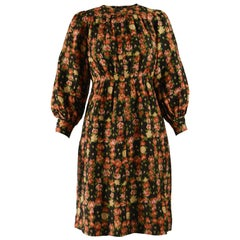 Emanuel Ungaro Vintage Puff Sleeve Floral Dress
