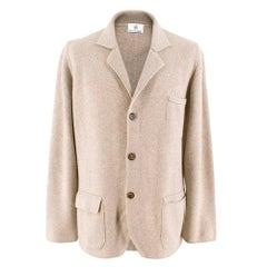 Emanuele Maffeis Beige Cashmere Men's Blazer - Size IT 50