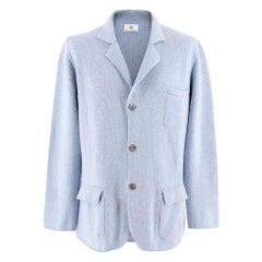 Emanuele Maffeis cashmere blue blazer SIZE 50