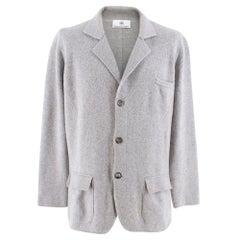 Emanuele Maffeis grey cashmere blazer SIZE 50