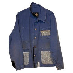 Embellished French Blue Distressed Jacket Lightblue Lurex Vintage J Dauphin