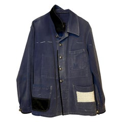Embellished French Blue Jacket SequinTweed Silver Buttons J Dauphin