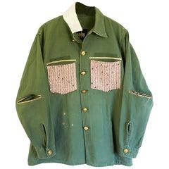 Embellished Green Jacket Pink Sequin Tweed Silk Oversize J Dauphin