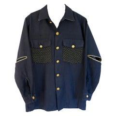 Embellished Jacket dark Blue Black Designer Tweed One of a kind J Dauphin
