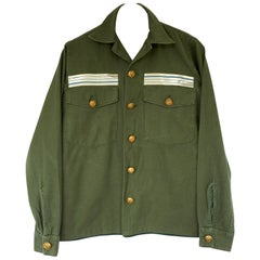 Embellished Jacket Green Military Cropped Gold Buttons Silver Braid J Dauphin