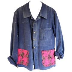 Embellished Jacket Original French Work Wear Designer Tweed Silver J Dauphin