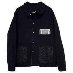 Evening Day Blazer Jacket Silver Fringe Black Tweed Gold Buttons J Dauphin